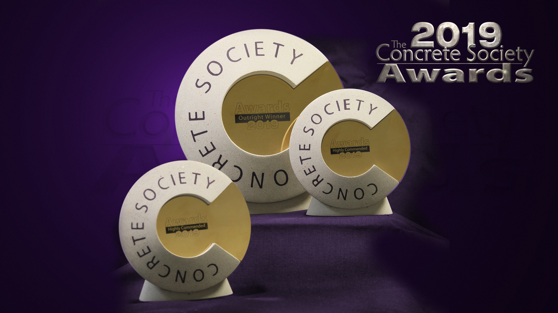 Concrete Society 2019 Awards Trophies